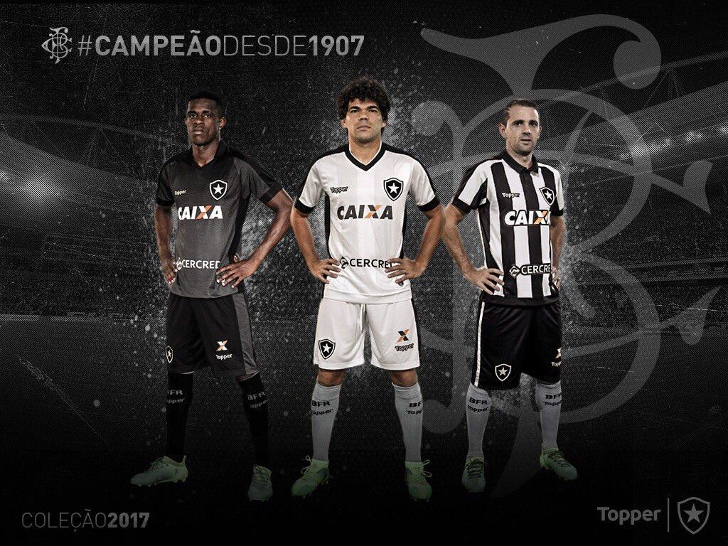 Bom dia para quem tem o uniforme mais bonito do mundo! #BotafogoÉTopper  Já à venda em https://t.co/TcPn7NvpbI !   (Arte: Gabriel Assis)