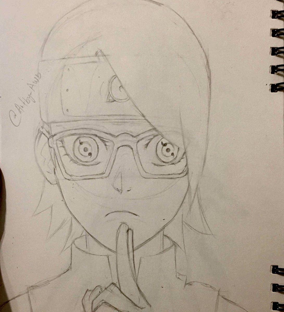 Anime Artist On Twitter Uchihasarada From Boruto Animedrawing Drawing Draw Art Doodle Sketch Fanart Manga Sarada
