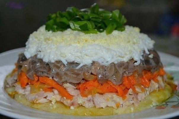 Рецепты салатов с фото с морепродуктами