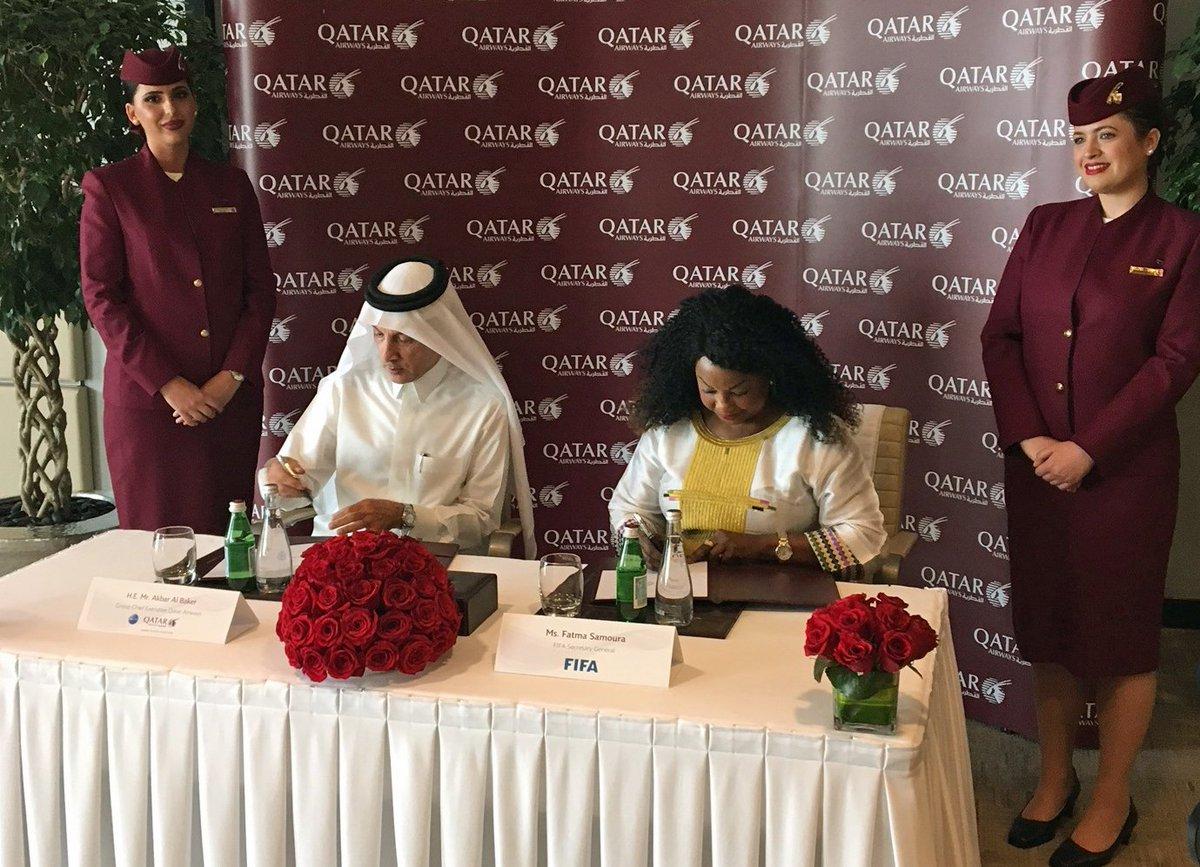 QATAR AIRWAYS: PARTNER E LINEA AEREA UFFICIALE DI FIFA FINO AL 2022
