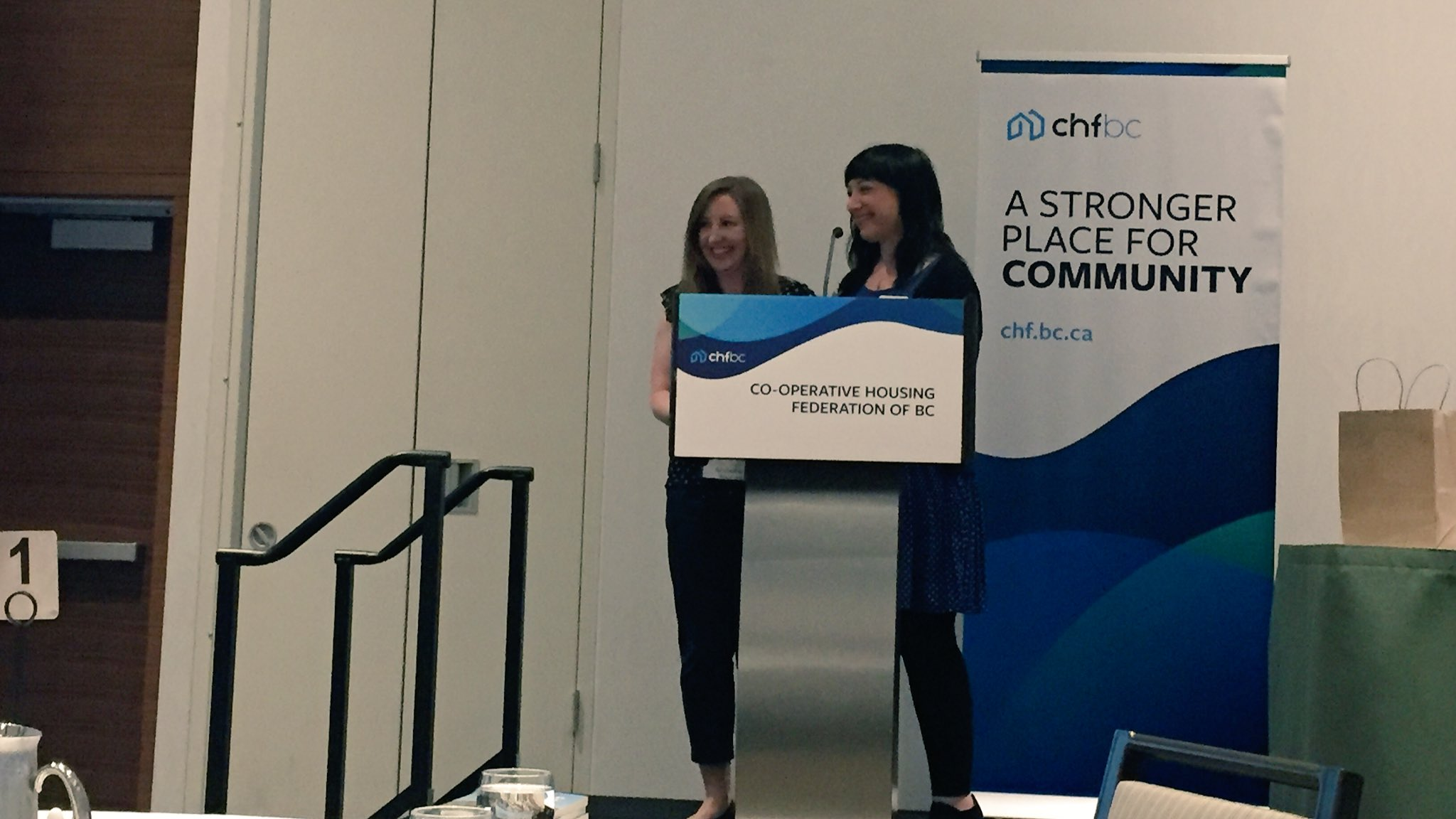 "The Aaron Webster Memorial Scholarship goes to Laura Fletcher, who describes co-op housing as a ""feeling of security"". 🎉 #coops #bcpoli https://t.co/eGhgkZOYha"