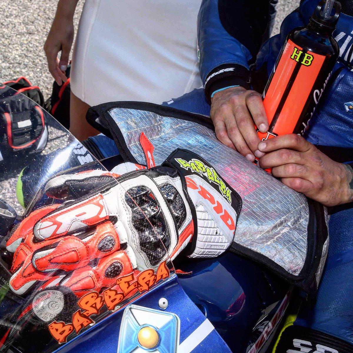 Ready to race @HectorBarbera #SpanishGP @MotoGP @realeavintia #spidiwarrior #ridetrue #speed #bikes #bikers #race