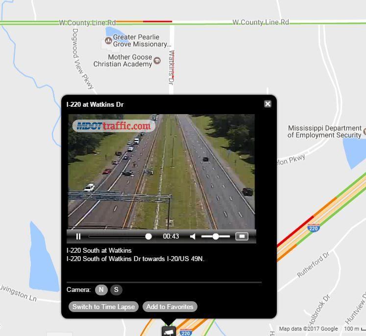 Watkins Dr : TRAFFIC MDOT reports crash SOUTHBOUND lanes blocked