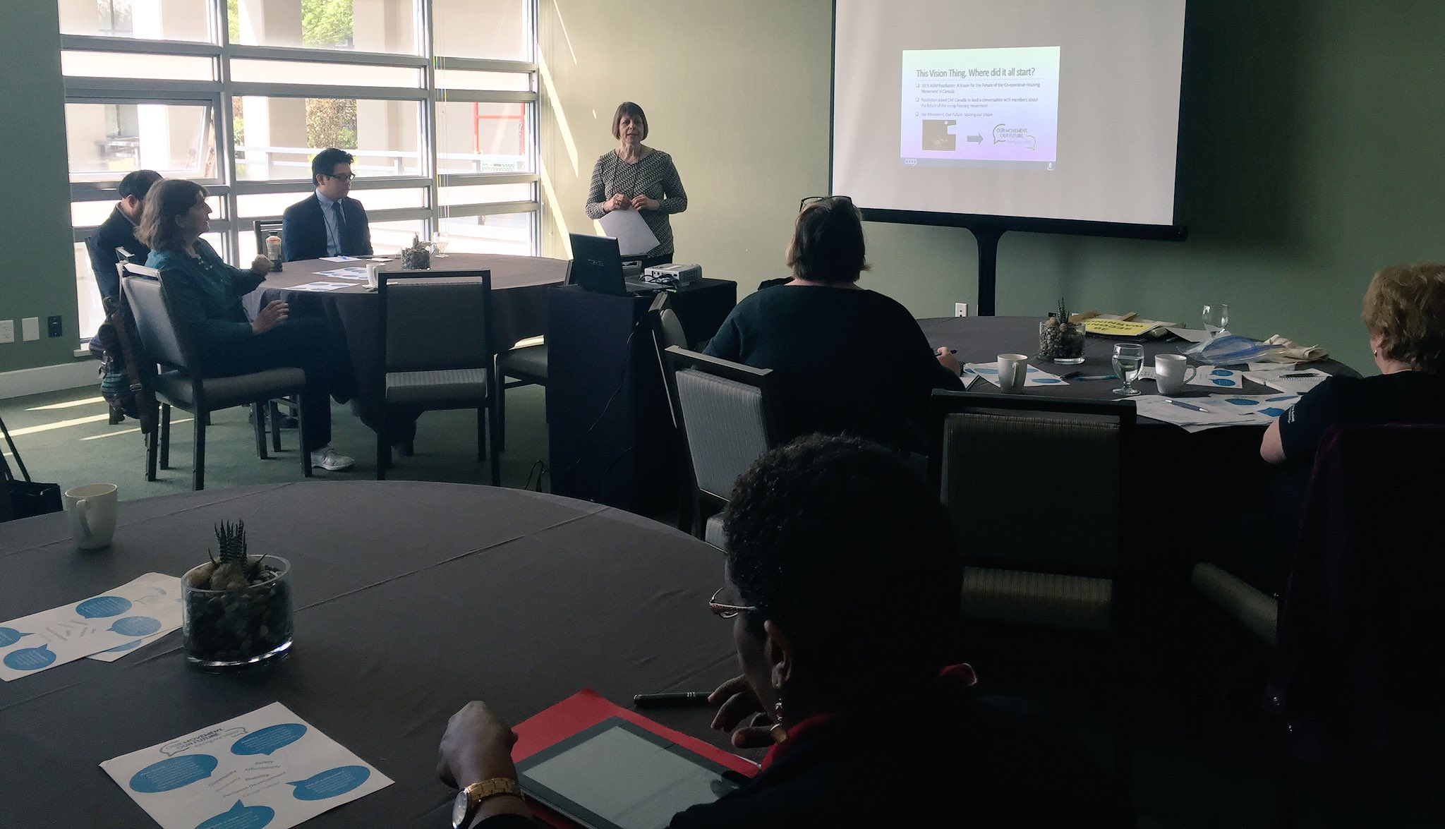 Delegates join @CHFCanada on thoughts, ideas and vision for our co-op housing future. https://t.co/ymvMFPZj39 #coops #strongercommunities https://t.co/YisOddQNO4