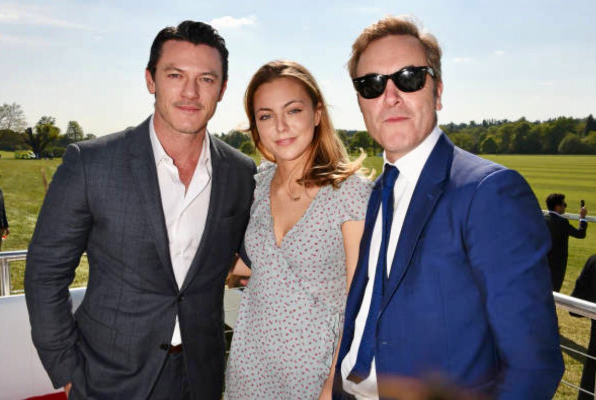 Lukeevans News On Twitter Luke Evans With Peggy And James Nesbitt At The Audi Polo Challenge Day 2 On May 7 In Ascot Uk By Getty Images