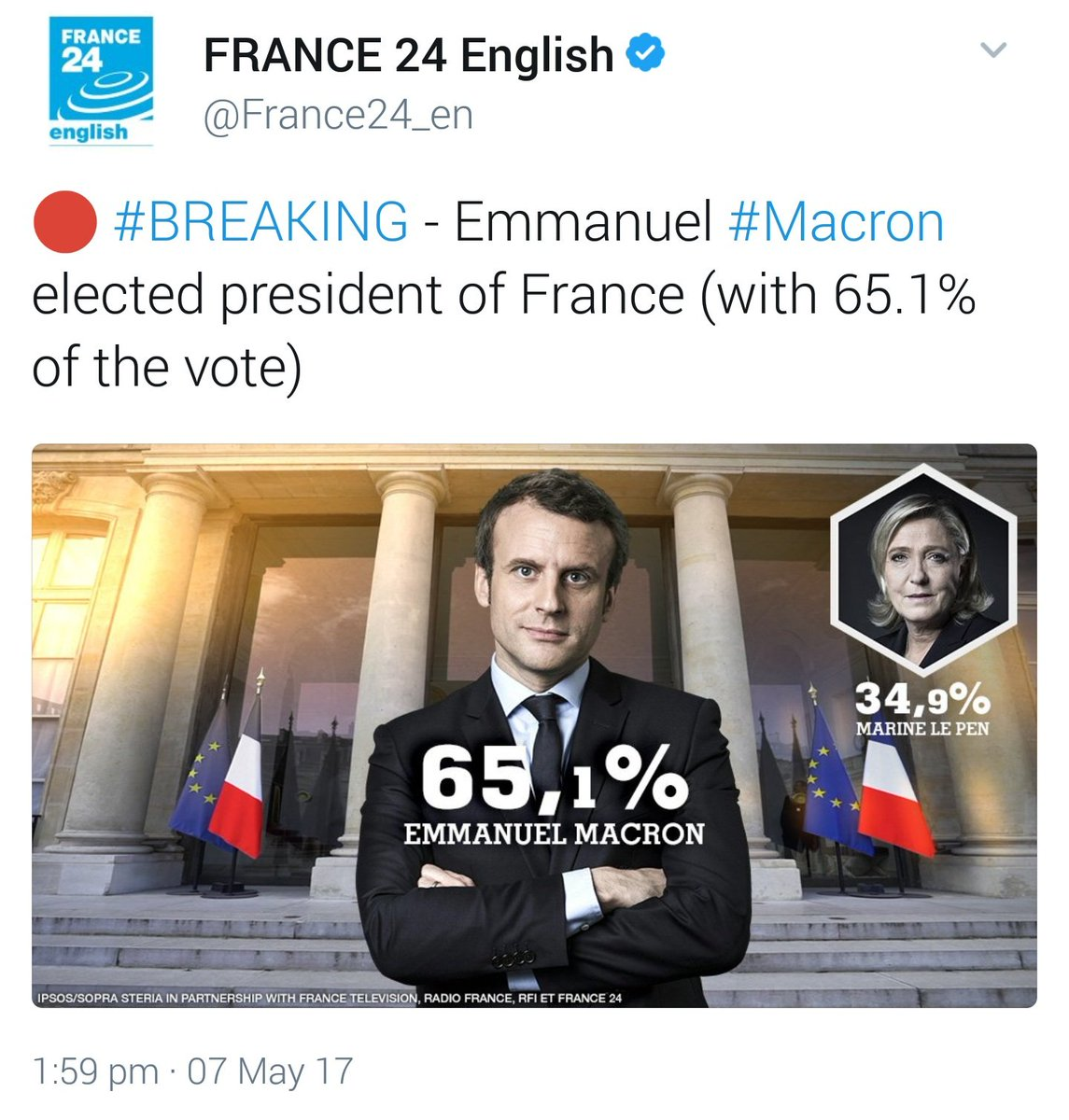 As is the custom in France, Macron has imprisoned his defeated rival's soul in another dimension. https://t.co/cVLdvQuNMp
