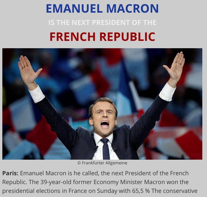 THE NEXT FRENCH PRESIDENT IS CALLED EMANUEL MACRON !!!  https:// daniels-website-presents.jimdo.com / &nbsp;    #France #frenchelection #Presidentielle2017 #2017LeDebat <br>http://pic.twitter.com/QJMhh5EUj2