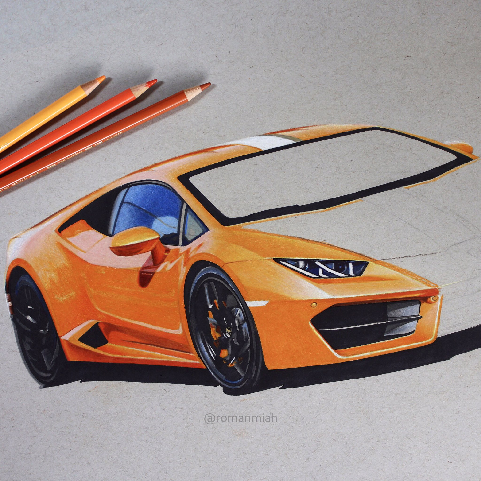 "Roman Miah On Twitter: ""Drawing Of @WallacePJW Lamborghini"