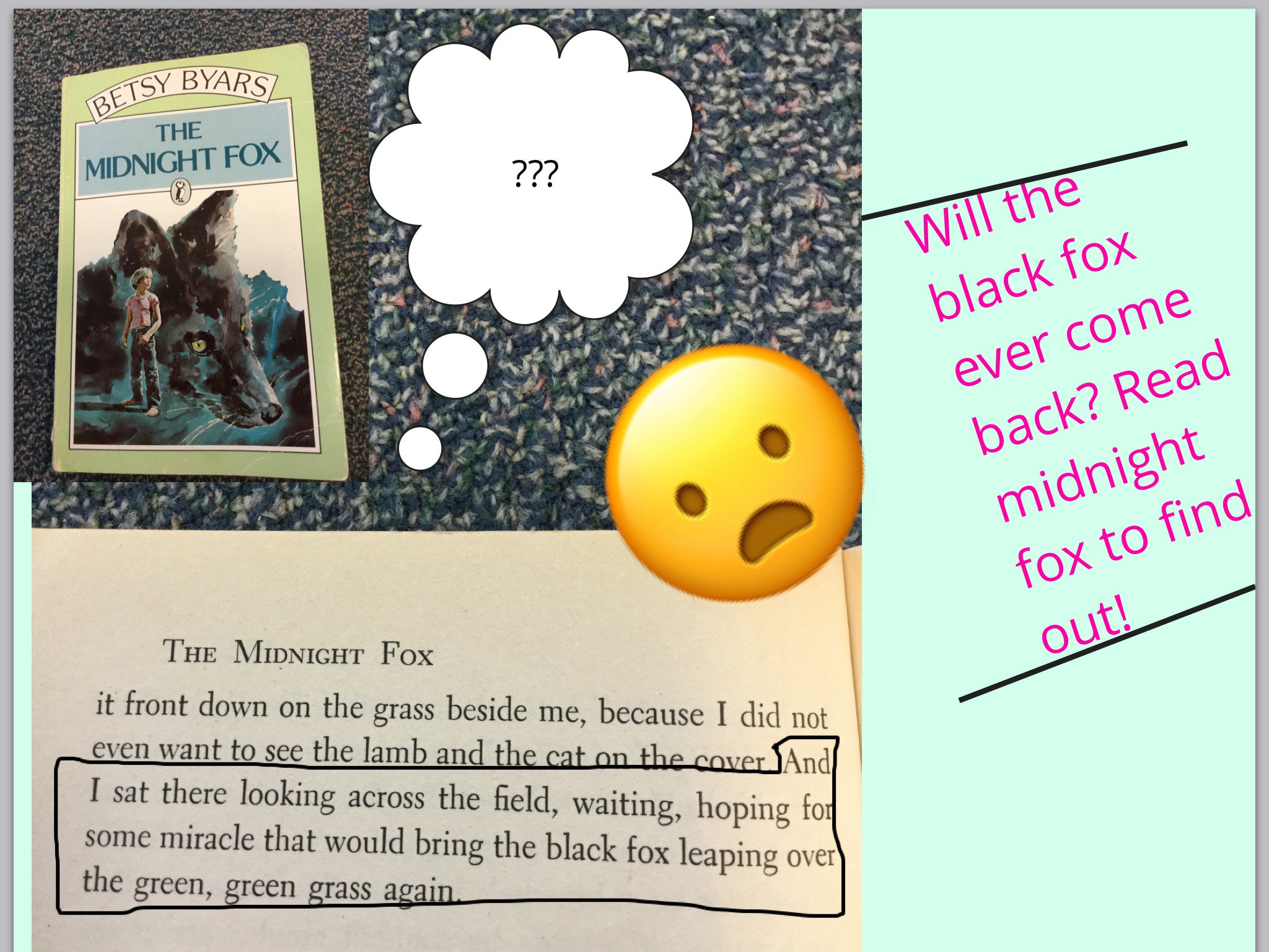 #booksnapswk2 #booksnaps KN_4Vo  sharing about Midnight Fox @verovoig #betl https://t.co/QALLGKWhSe