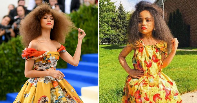 This Little Girl Recreated Zendaya's FLAWLESS Met Gala Look