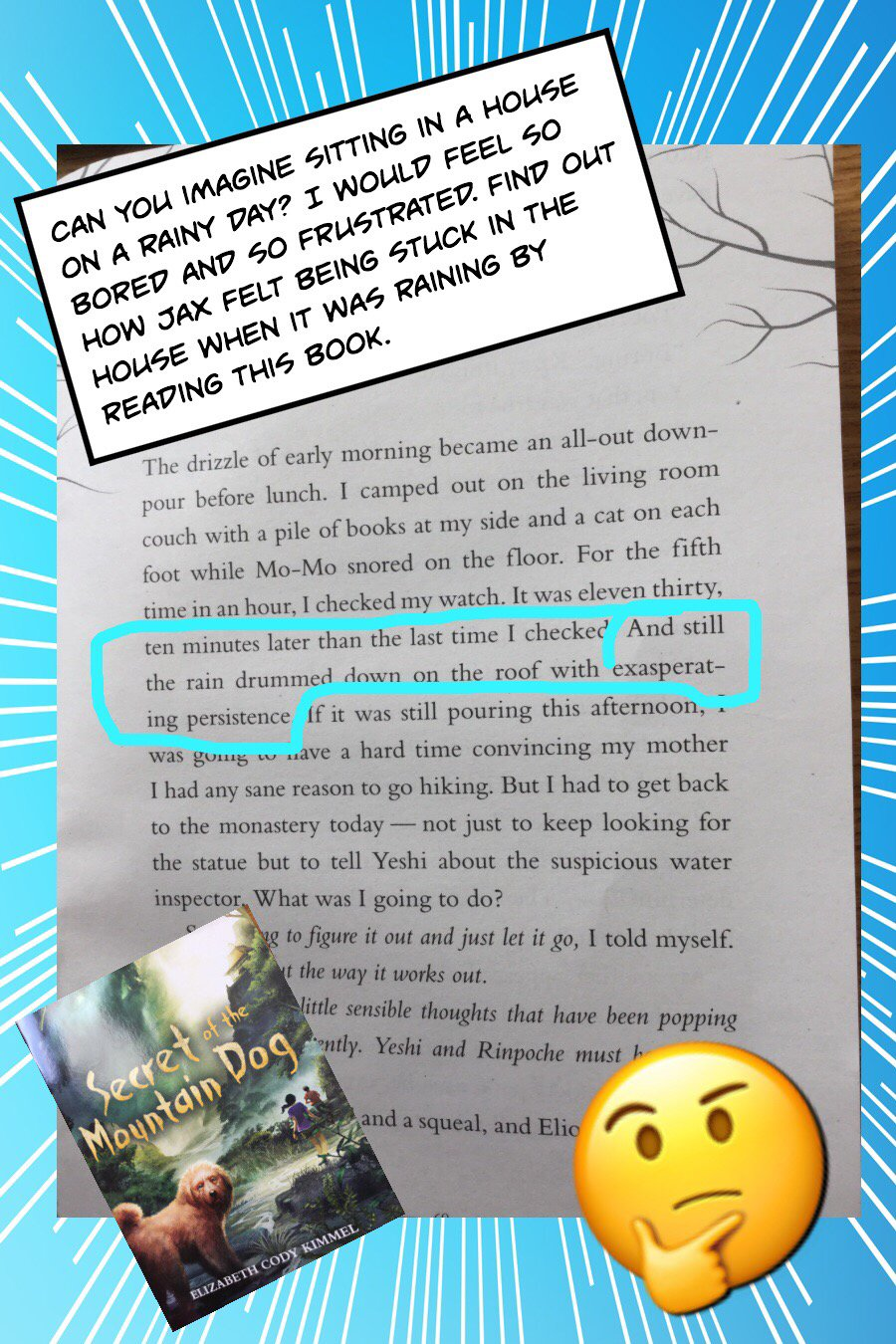 #booksnapswk2 #booksnaps NH_4VDH sharing about Secret of the Mountain Dog @kerrvand #betl https://t.co/ajwYyu1w2Q