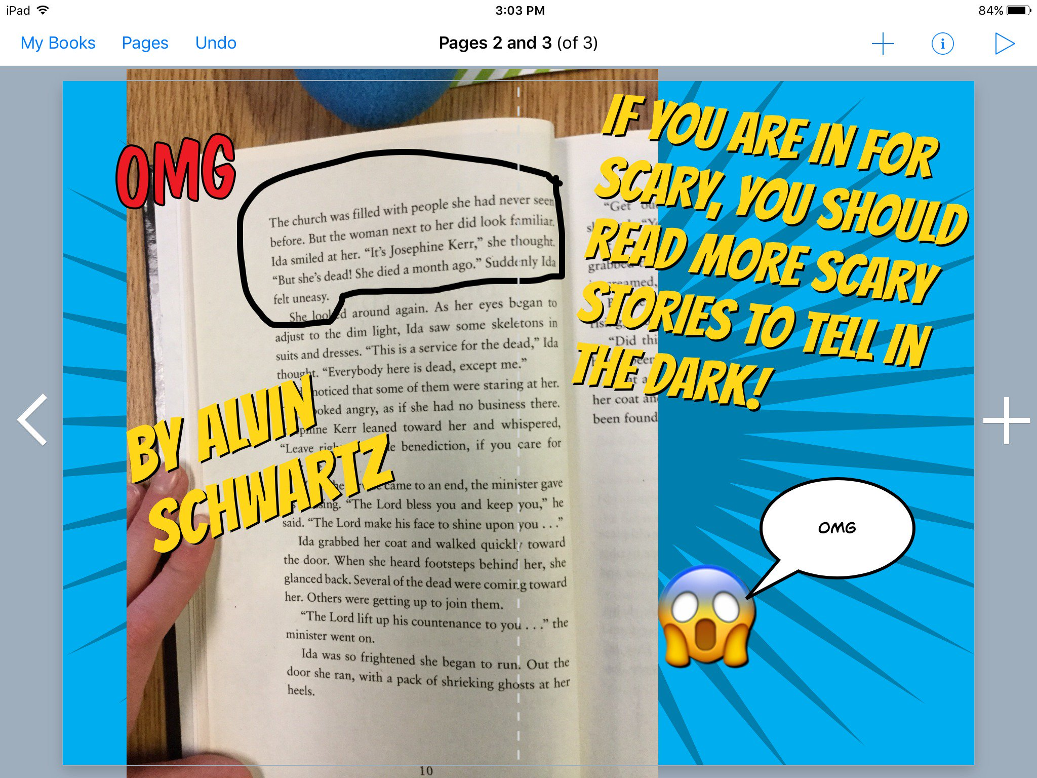 #booksnapswk2 #booksnaps HK_4VDH sharing More Scary Stories to Tell in the Dark @kerrvand #betl https://t.co/b5c1rkLt94