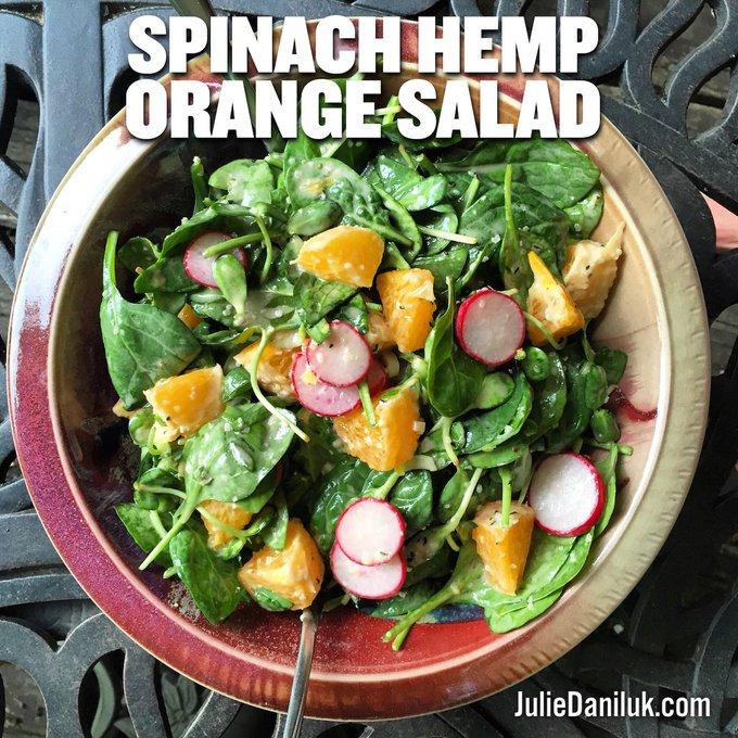 Spinach Hemp Orange Salad