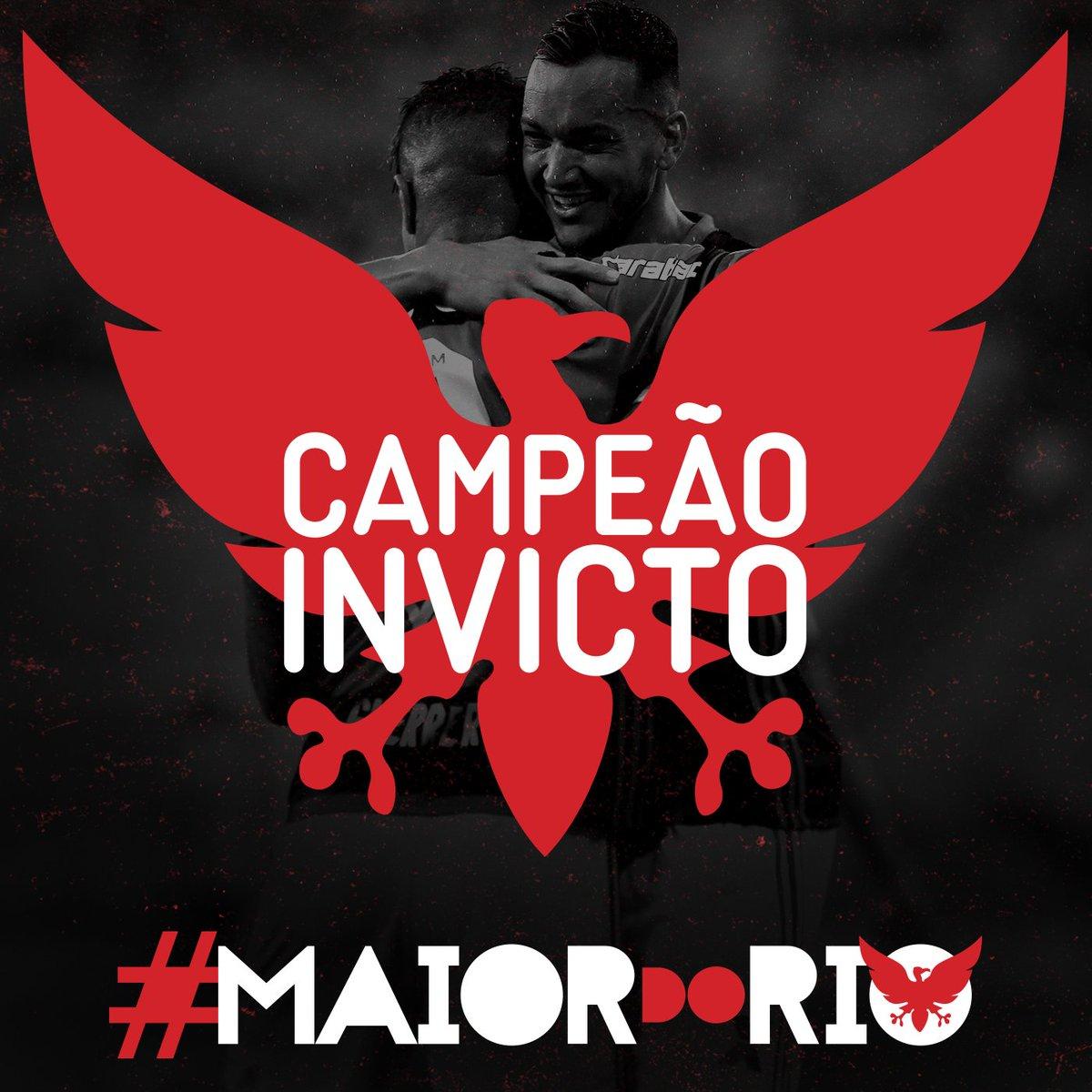 Essa conquista tem mais um detalhe especial: o Mengão em nenhum momento foi vencido #MaiorDoRio