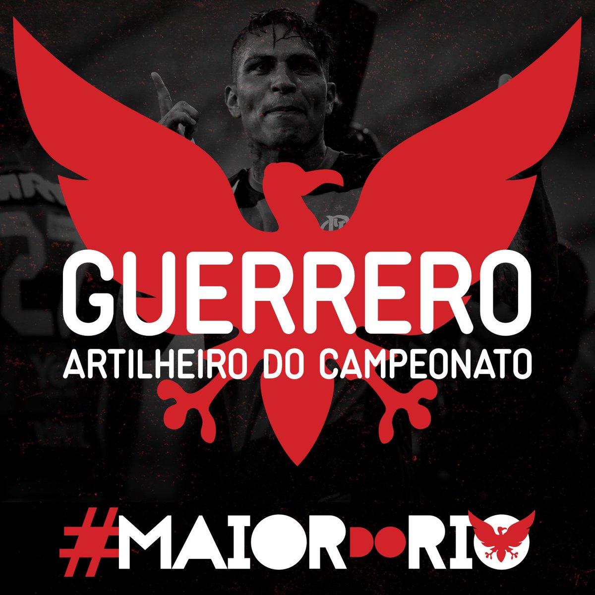 Acabou o caô, o artilheiro do campeonato chegou! Guerrero é o nome dele #MaiorDoRio