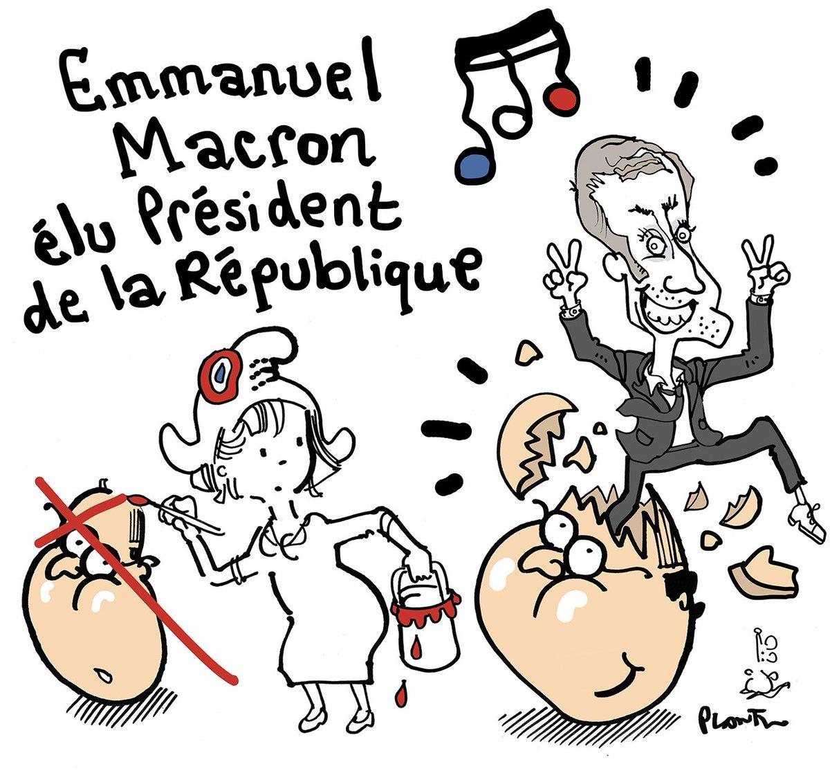EMMANUEL MACRON ELU PRESIDENT DE LA REPUBLIQUE.