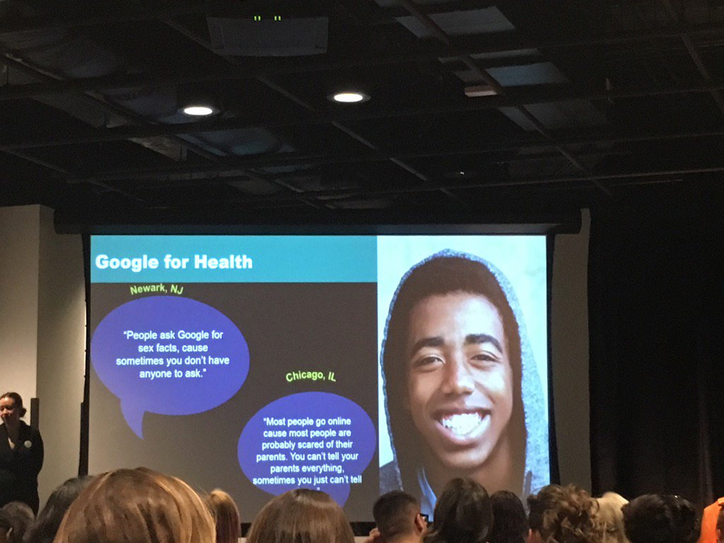 Google for health. Youth use Google because they don't have anyone else to talk to. #YTHLive #techsex https://t.co/nXSgB3v2h1