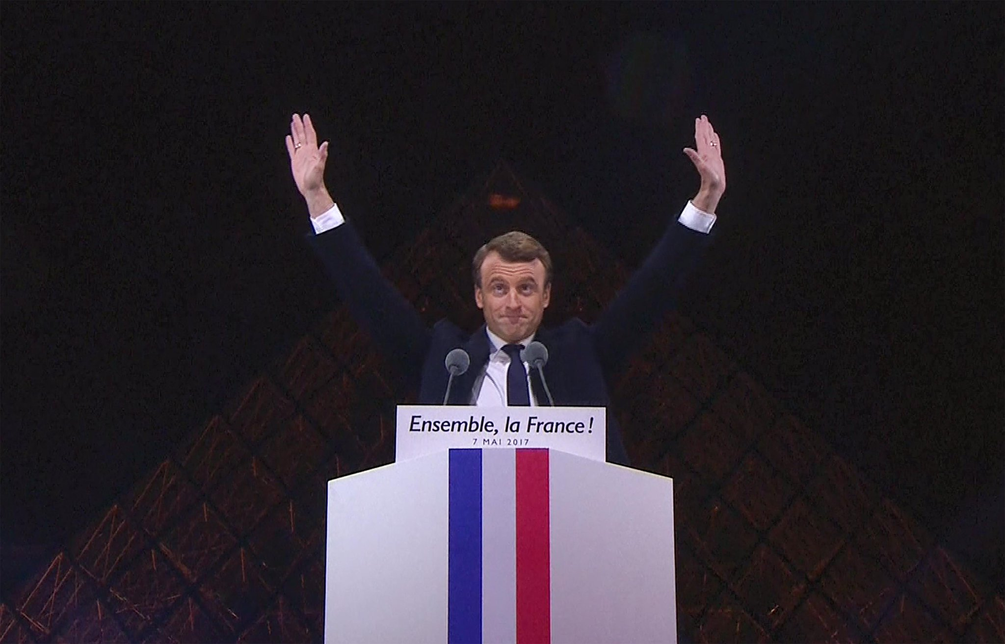 "Strong words from President Macron: ""We won't give in to fear, to divisions, to lies"". Civil society will watch & remind him of his promise https://t.co/SDxB7piFXY"