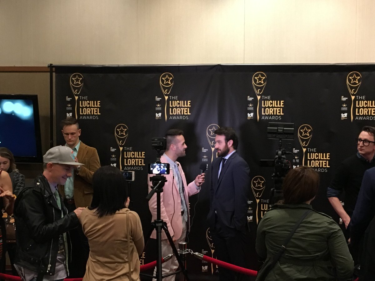Nominee #CharlieCox gets the red carpet treatment! #LortelAwards https://t.co/YqzniyKh5V