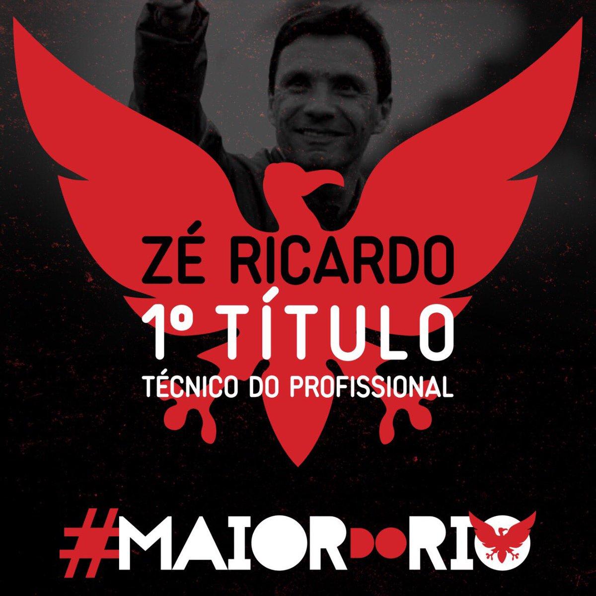 Fé no Zé! Primeiro título a frente da equipe profissional do Flamengo! #MaiorDoRio