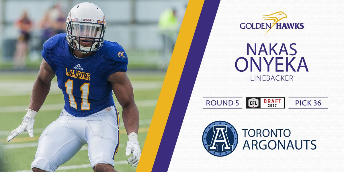 Congrats to @Nakas_ who goes in the 5th round, 36th overall to the @TorontoArgos! #WeAreHAWKS