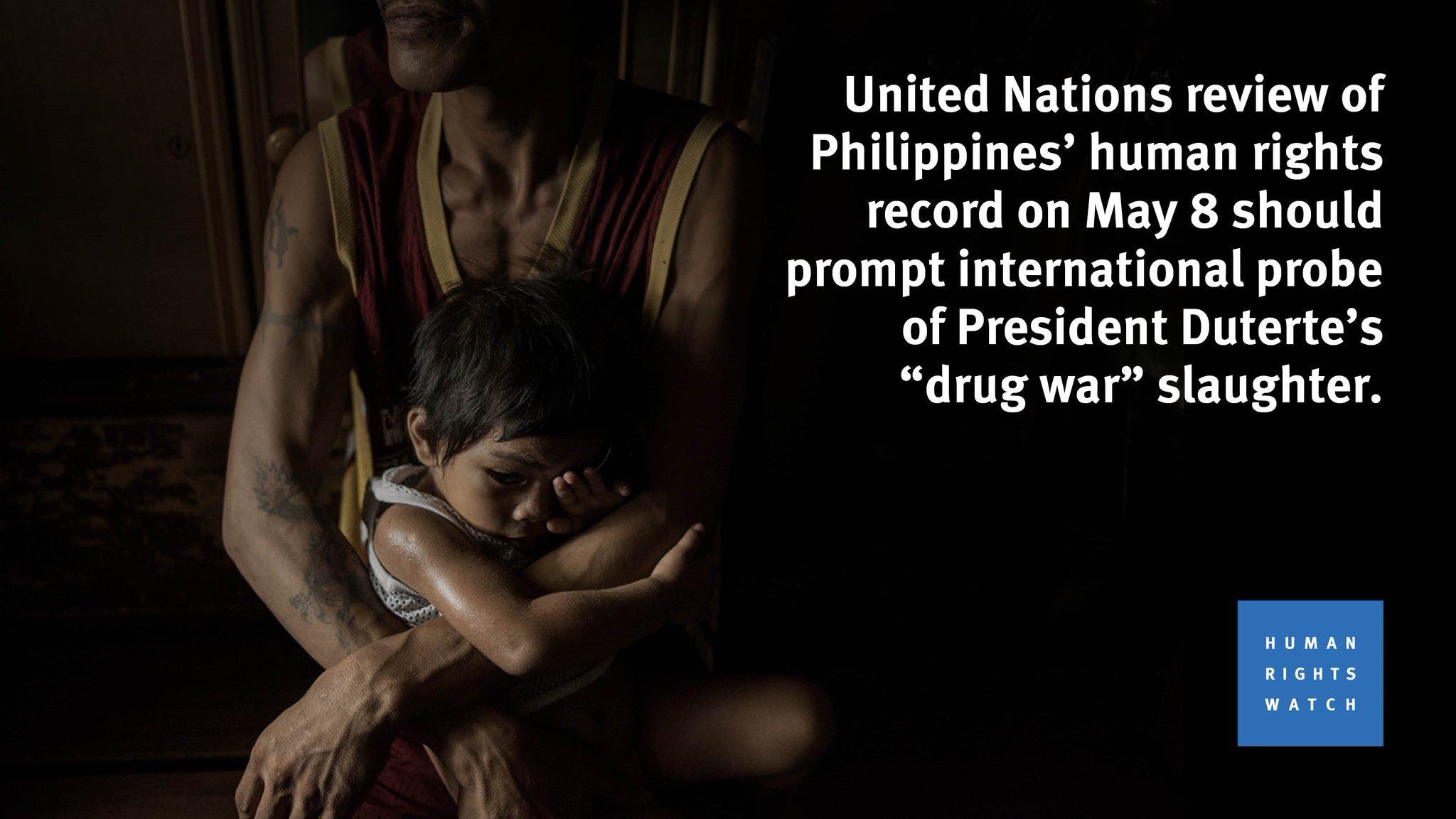 #Philippines Prez #Duterte 's deadly drug war merits urgent @UN -led independent probe via @hrw  https://t.co/GutsVmuDev #UPRPhilippines https://t.co/AKhQ8j83Vf