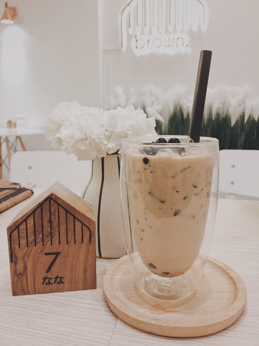 "jan ʕ´•ᴥ•`ʔ on twitter: ""ร้าน brown cafe & eatery นิมมาน ซ.9 ร้าน"