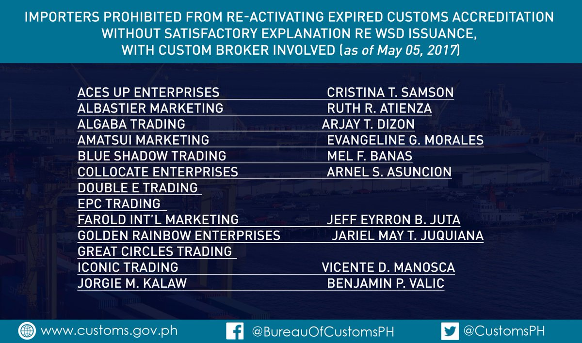 Bureau of Customs PH on Twitter: