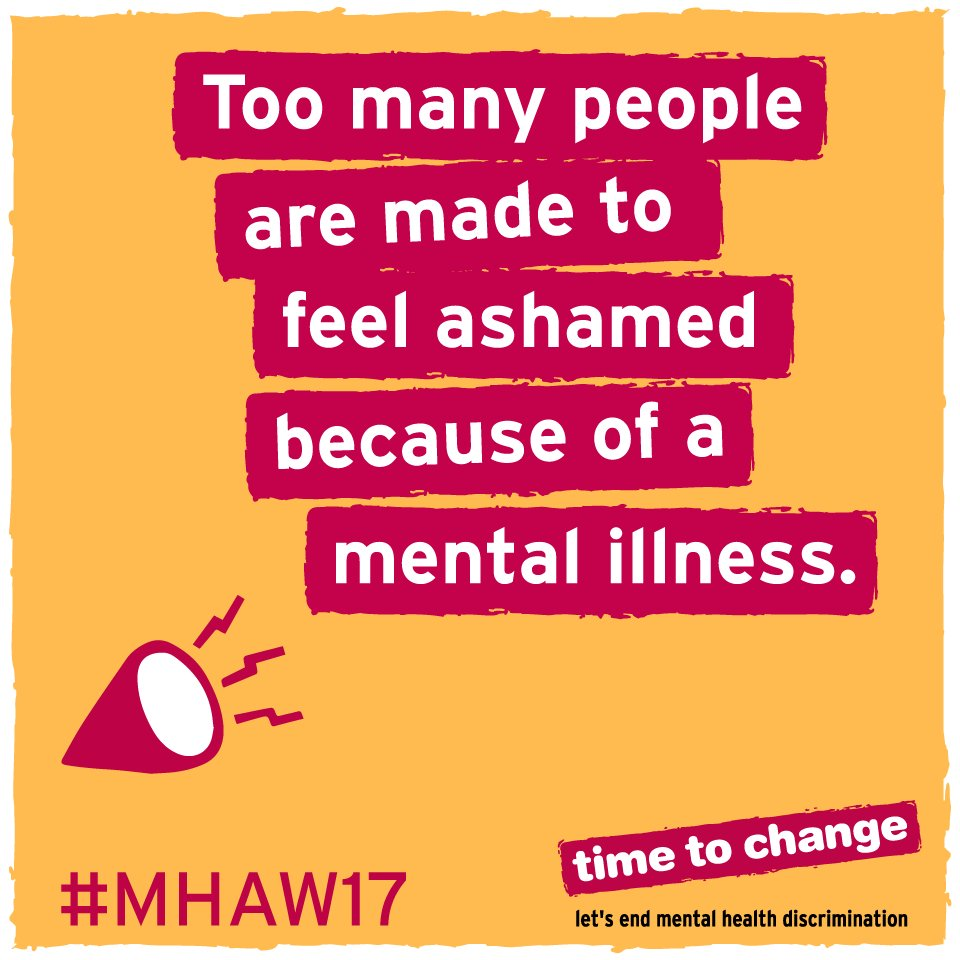 It's #MentalHealthAwarenessWeek: let's change the way we think and act about mental health. https://t.co/0qOEIMbAFh