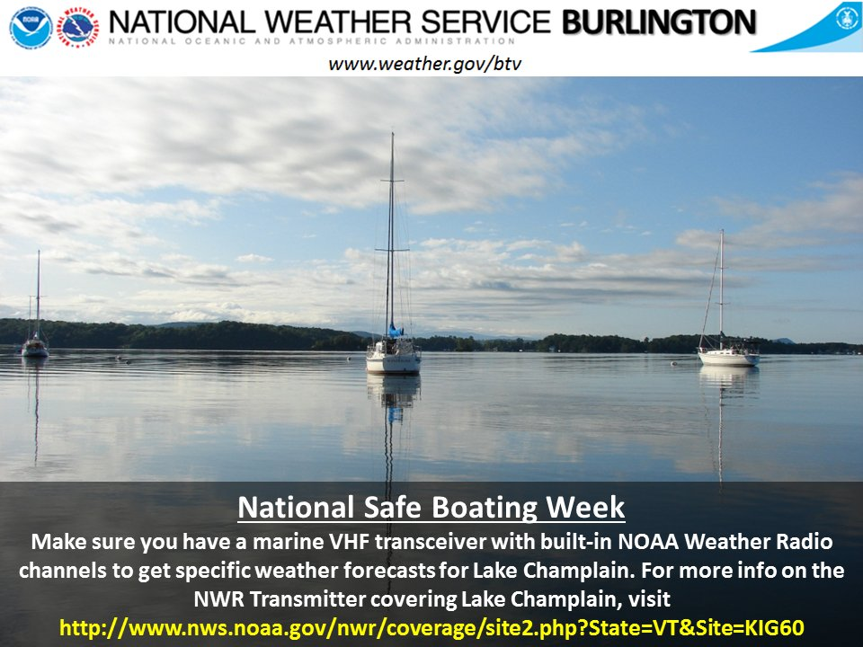 test Twitter Media - National Safe Boating Week runs from May 20-26, 2017. Are you able to receive the latest marine forecasts and warnings on board your craft? https://t.co/BO3HDPNCQb