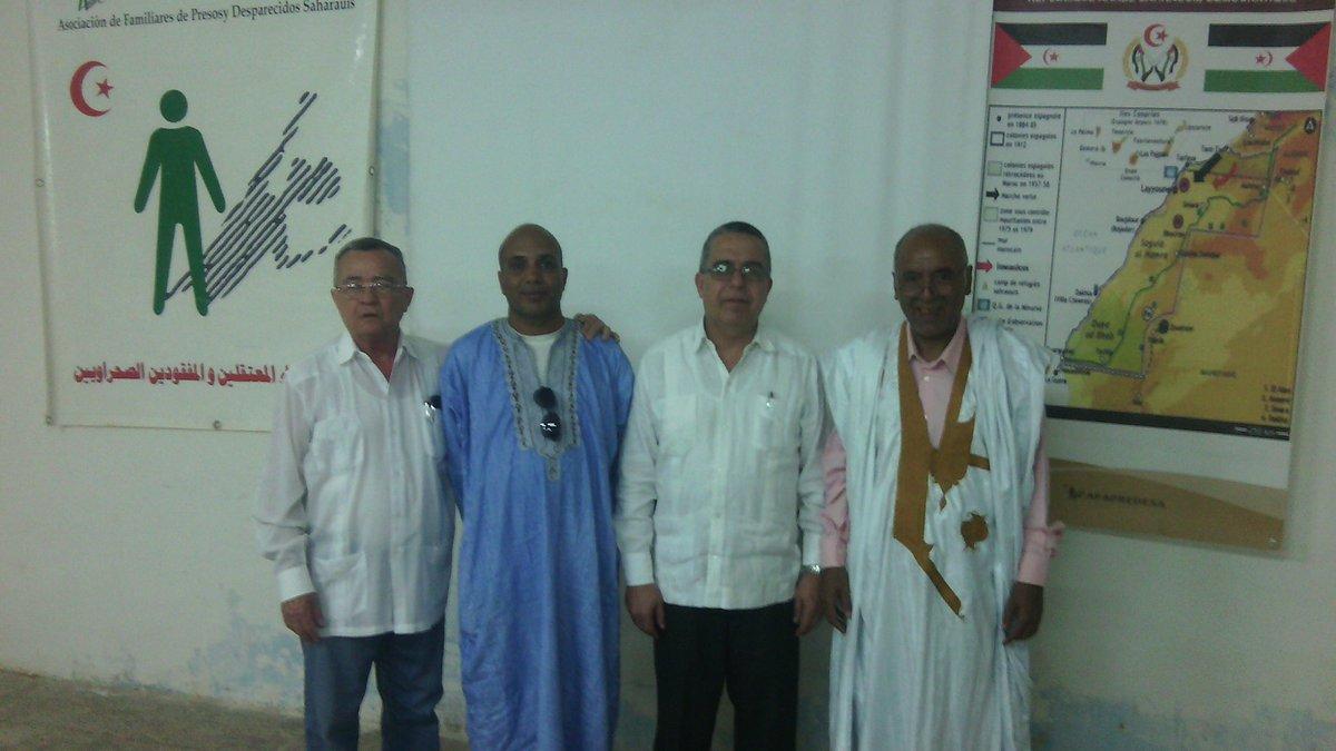 Ratifica Vicecanciller cubano apoyo al pueblo saharaui en visita a Campamentos de Refugiados