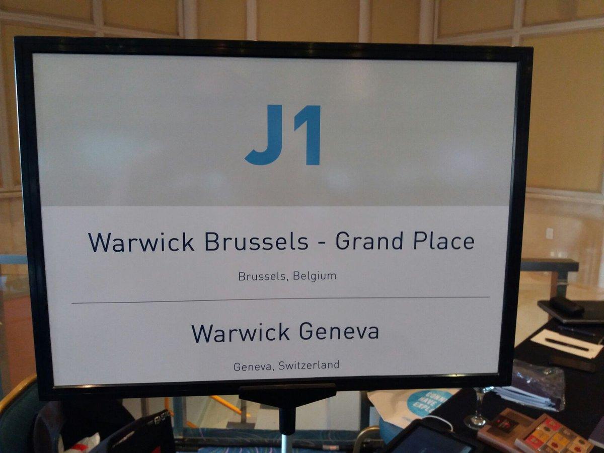 #MIFCancun ~ Meet @WarwickBrussels & @WarwickGeneva  #WarwickHotels