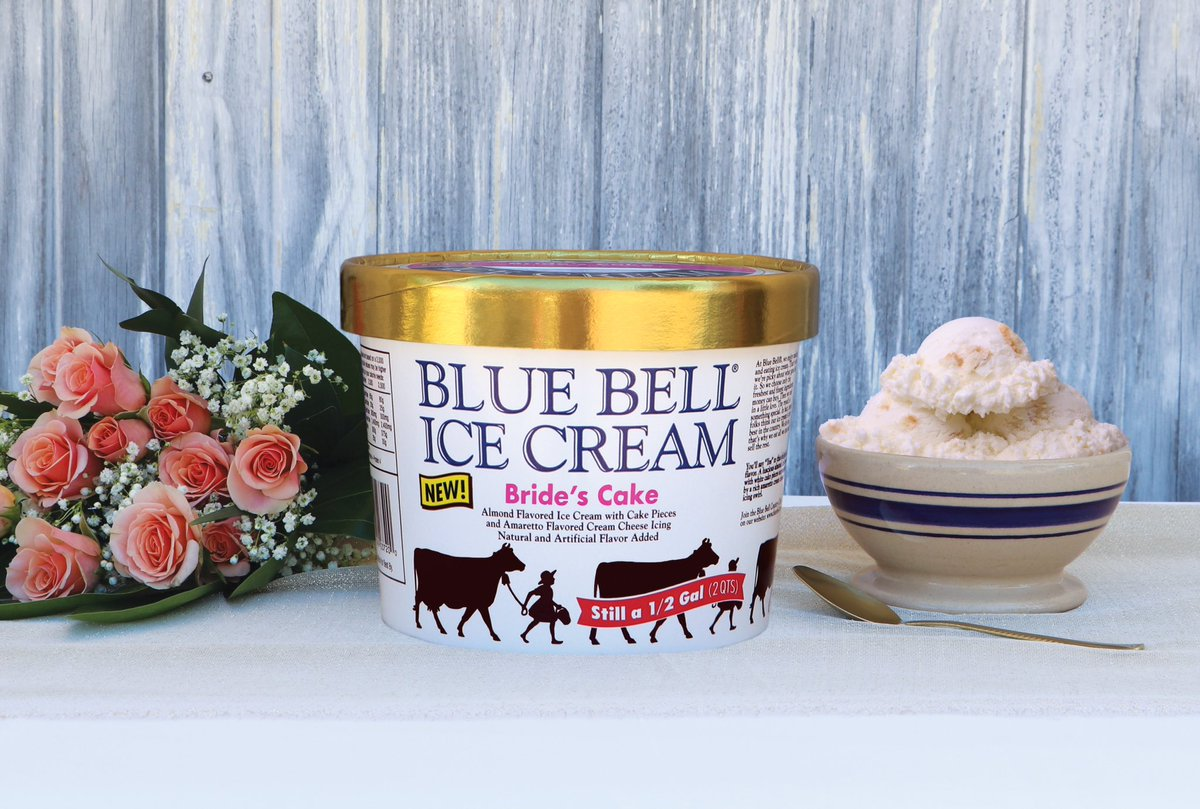 Blue Bell Ice Cream On Twitter Say Yes To Our New Brides Cake Almond W White Pieces Surrounded By A Rich Amaretto Cheese