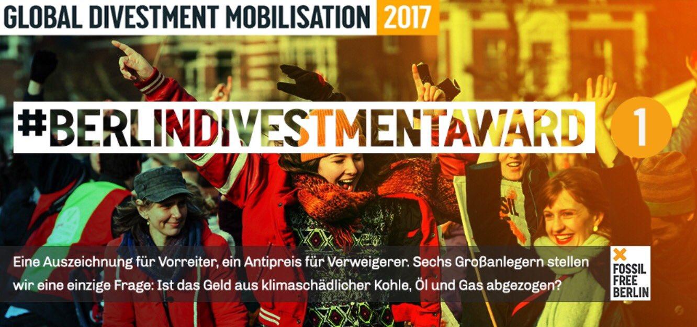 Klimafinanz-Vorreiter: Wir zeichnen Berlins Ärzteversorgung (7 Mrd€ Pensionsfonds!) beim  #BerlinDivestmentAward aus https://t.co/7yKOVbqWIA https://t.co/i5p8smyWis