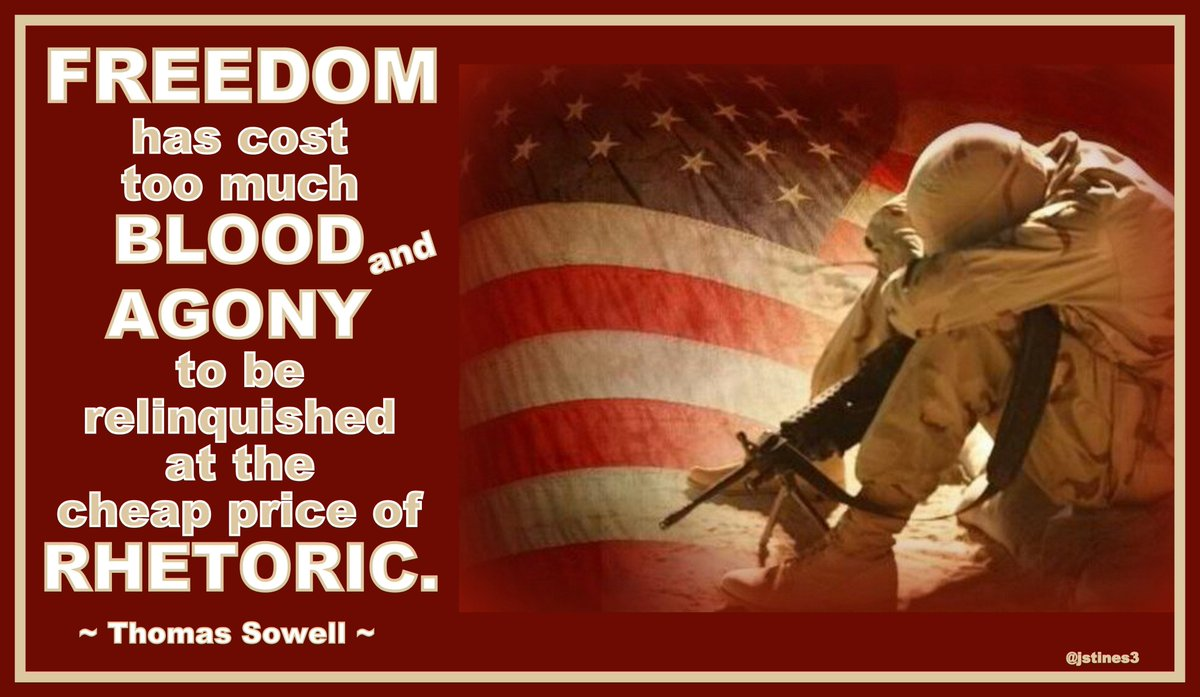 Freedom has cost far too much to be relinquished at the price of RHETORIC!   #RED #SOT #SOV #PJNET<br>http://pic.twitter.com/3zL9pR2L7x