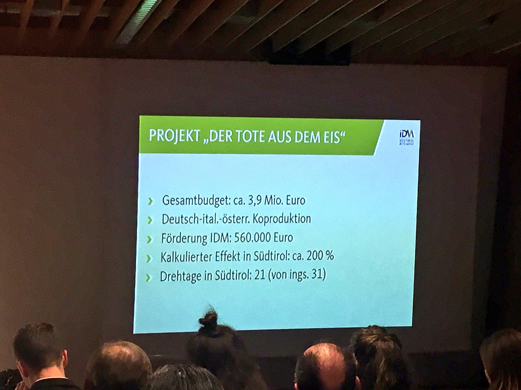 """#tmcbz Praxisbeispiel am 2016 gedrehten Ötzi-Projekt (""""Der Tote aus dem Eis"""") https://t.co/DM6bfXaEte"""