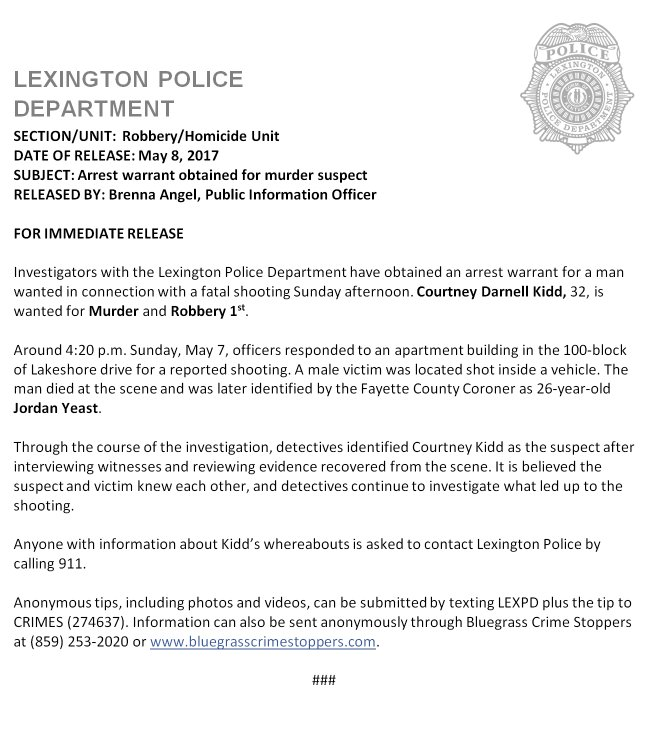 Lexington Police on Twitter: