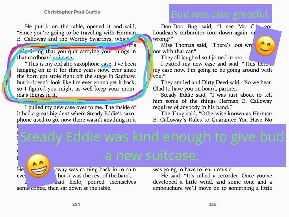 Ss created (@TSGABulldogs DA) #booksnaps for #BudNotBuddy #BooksnapsWk2  #Turner202Strong #tsgabulldogs #roland2023 https://t.co/WPfe5hdwzf