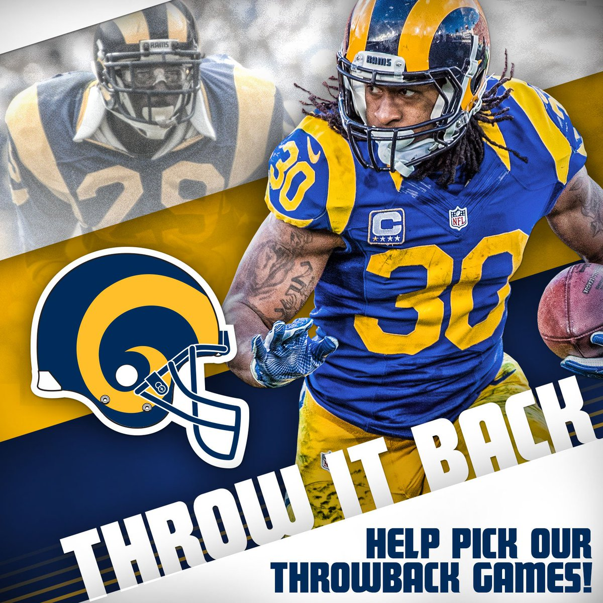 new style ea893 b72cd Los Angeles Rams Throwback Uniform : Los Angeles Rams launch ...