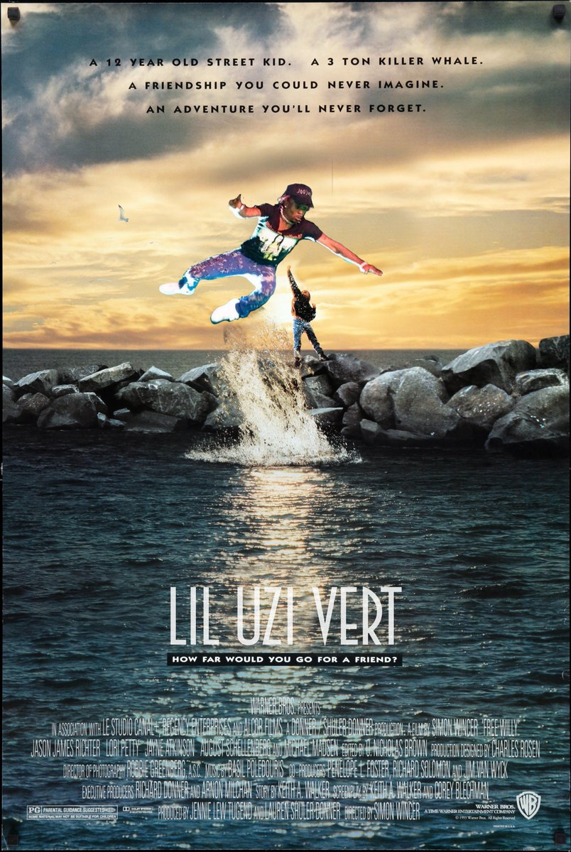 famous movie posters but with flying lil uzi vert