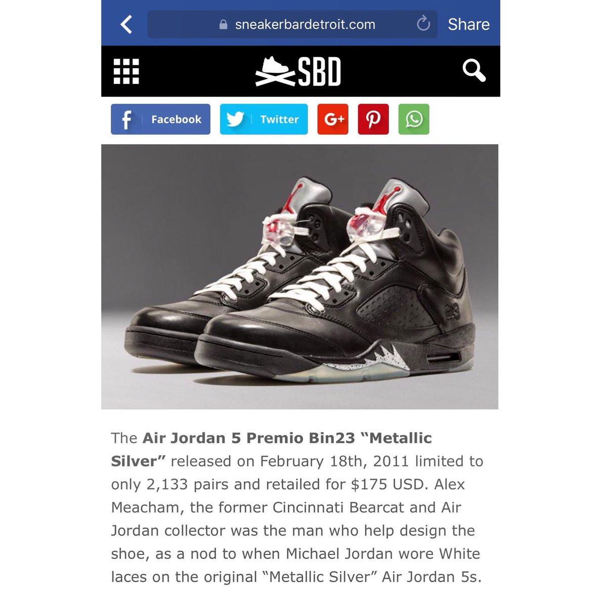 Air Jordan 5 Premio Bin23 Metallic