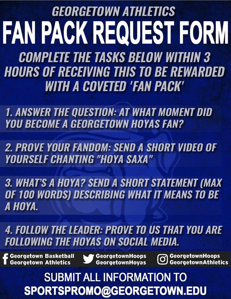 Fan Pack Request