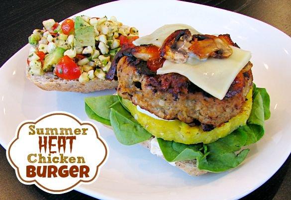 Summer Heat Chicken Burger Recipe #BreakUpWithGroundBeef