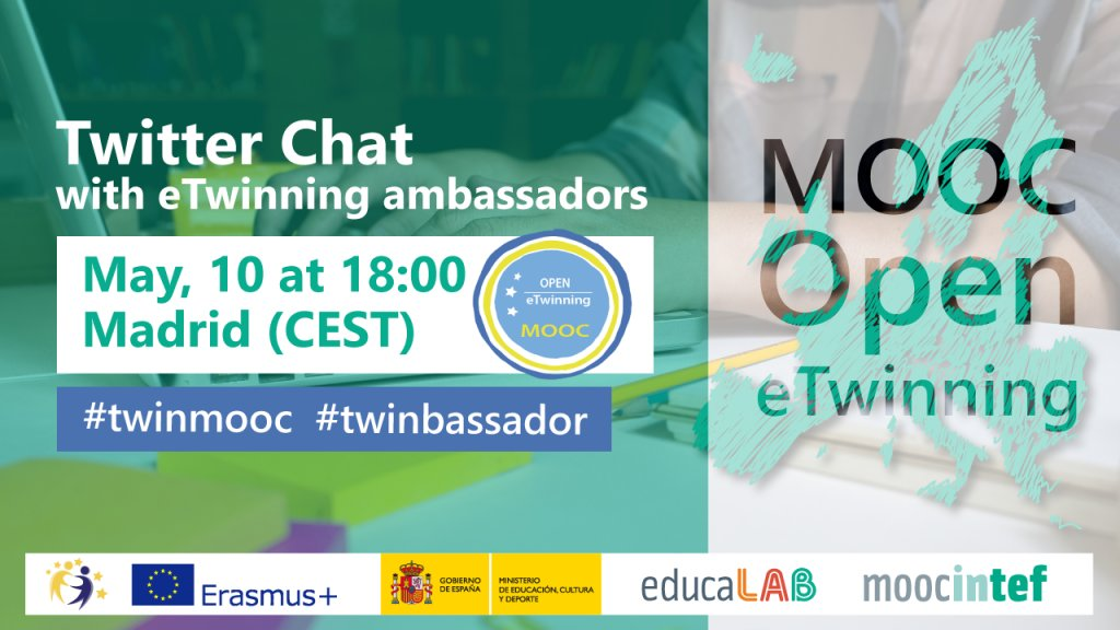 Remember: Wed, 10. 18:00 a lot of eTwinning ambassadors will be happy 2 give advice on how 2 design quality projects #twinmooc #twinbassador https://t.co/WJz5kKlBi1