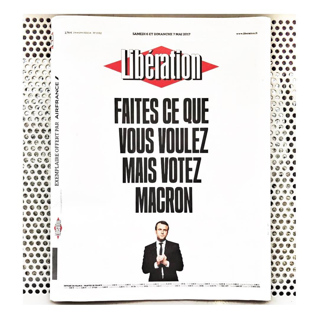 France elects #Macron despite last ditch disinformation campaign staged by the far right #lepenNON #fhaine #liberté #egalité #fraternité<br>http://pic.twitter.com/qpvdKcK10x