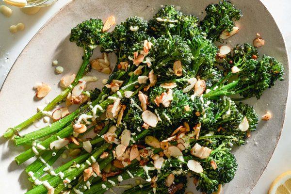 Roasted Broccolini with Creamy Mustard Sauce Recipe