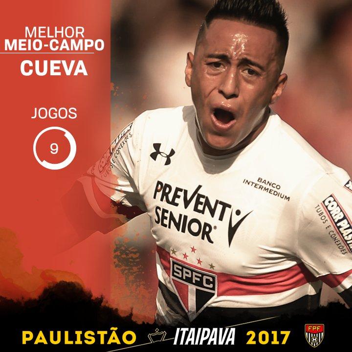 Cueva fecha esse meio-campo de qualidade da seleção do #PaulistãoItaipava 2017