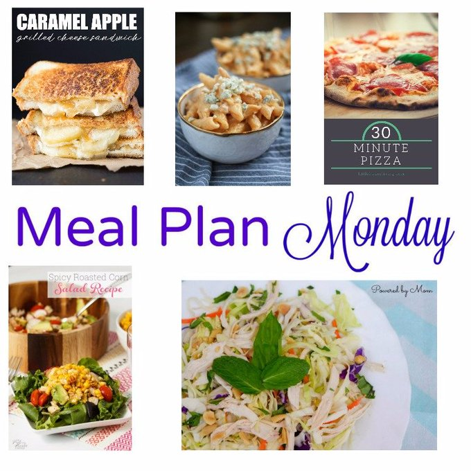 Meal Plan Monday -- Caramel Apple Grilled Cheese & 30-Minute Pizza
