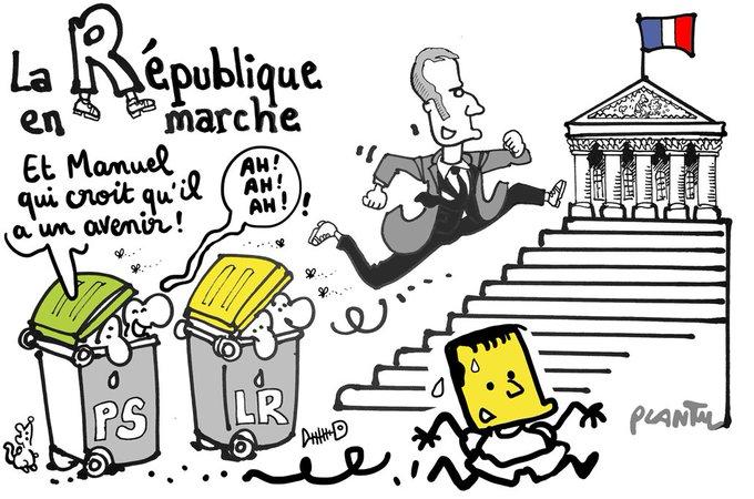 MANUEL VALLS CANDIDAT D'EN MARCHE.  Le dessin du Monde de ce mardi 9 mai.