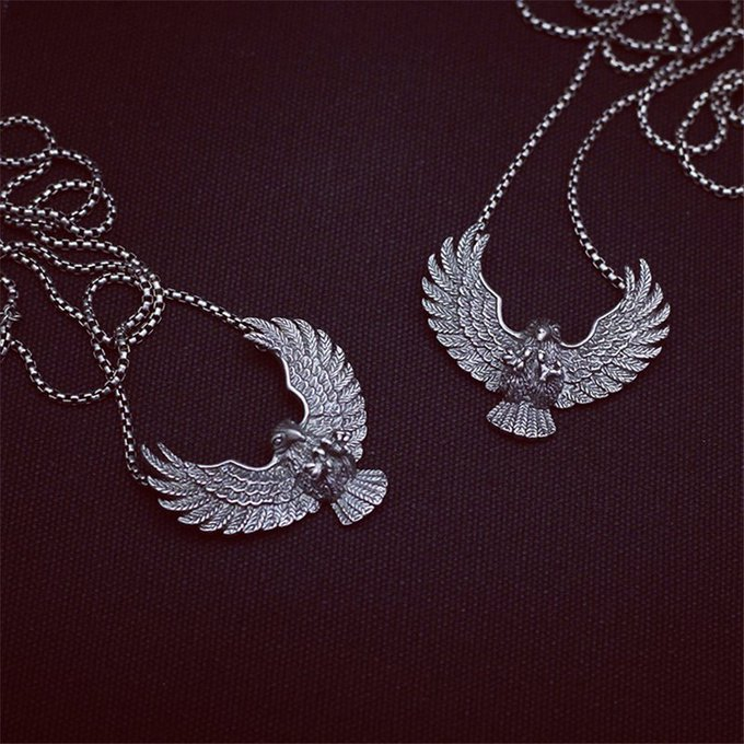 Titanium Steel Eagle Necklace